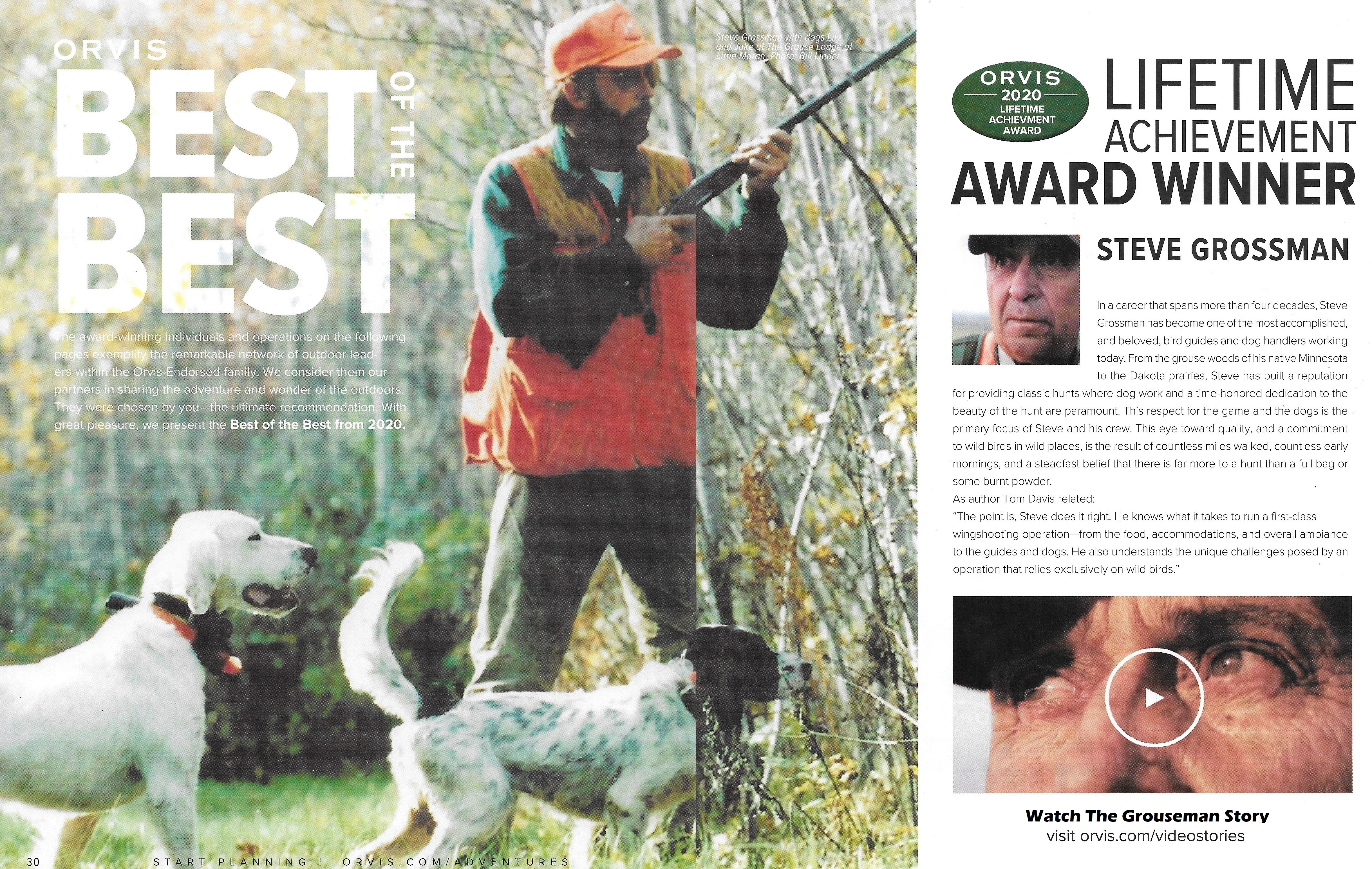 Orvis...Life Time Achievement Award Main Image